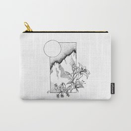 Lillies and Violets Carry-All Pouch