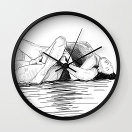 sex by the sea Wall Clock