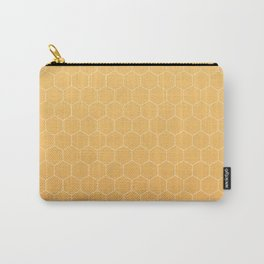 Amber honeycomb Carry-All Pouch