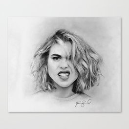Billie Piper Pencil Drawing Canvas Print