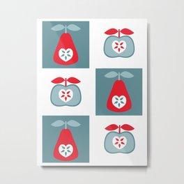 Up The Apples & Pears Metal Print