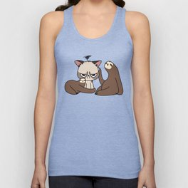 A Hug a Day Keeps the Grumpiness Away Unisex Tank Top