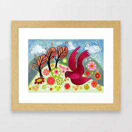 Crimson Dove Framed Art Print