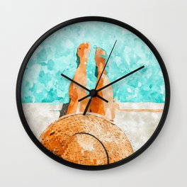 By The Pool All Day Wall Clock