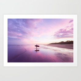 Mudjimba Surf Sunset Art Print