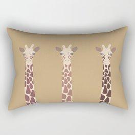 Triple Giraffes Rectangular Pillow