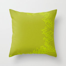 Bang yellow Throw Pillow
