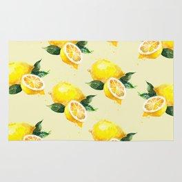 Lemon Pattern in Watercolour Rug