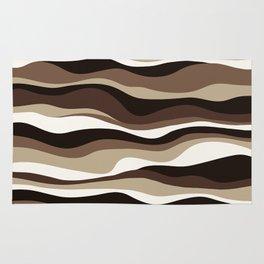 Cordillera Stripe: Brown  Cookies and Cream Combo Rug