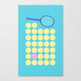 A Pink Tennis Ball in the Rough Canvas Print