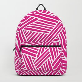 Abstract pink & white Lines and Triangles Pattern - Mix and Match with Simplicity of Life Backpack