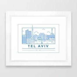 Tel Aviv line art Framed Art Print
