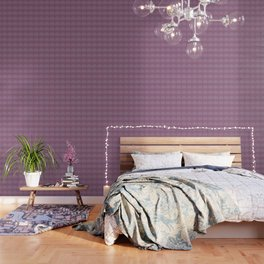 Painted Circle in Violet Wallpaper