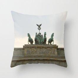 Victory, Brandenburger Gate statue Berlin Throw Pillow