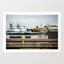 Helsinki Harbor Art Print