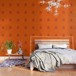 Orange Birdcage Wallpaper