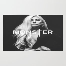 Lady Gaga's Portrait Monster Rug