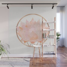 Blush Zen Lotus ~ Metallic Accents Wall Mural