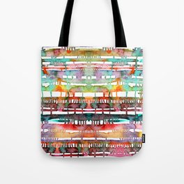 Watercolor lines and stains Tote Bag