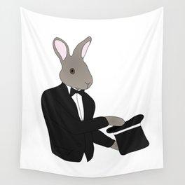 Rabbit Magician Wall Tapestry