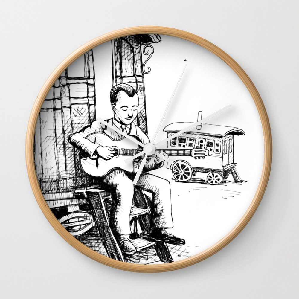 Django Reinhardt Wall Clock by Thadesign CLK8977506