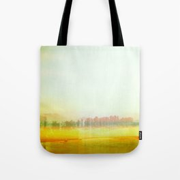 Abstract Yellow Landscape, Modern Southewest Tote Bag