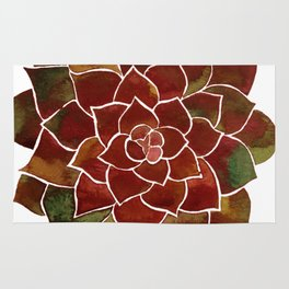 Succulent watercolor painting Rug