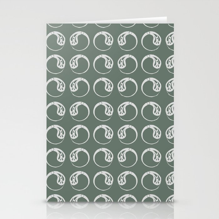 Art Nouveau Paisley 2 Stationery Cards