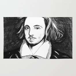 Christopher Marlowe Portrait Rug