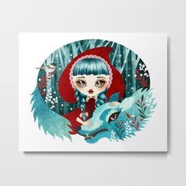 Red of the Woods Metal Print