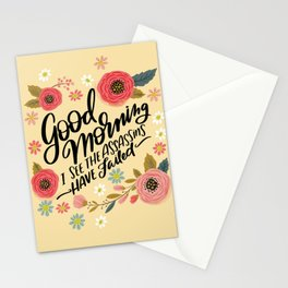 Pretty Not-So-Sweary: Good Morning I See the Assassins Have Failed Stationery Cards