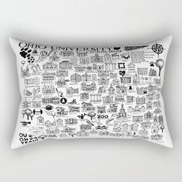 Ohio University Map Rectangular Pillow