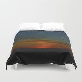 Prairie Sunset #1 (Chicago Sunrise/Sunset Collection) Duvet Cover