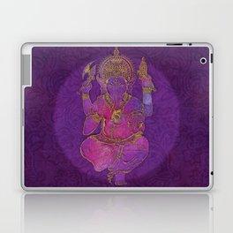 Ganesha hindu god watercolor gold purple art Laptop & iPad Skin