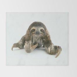 Arctic Sloth Throw Blanket