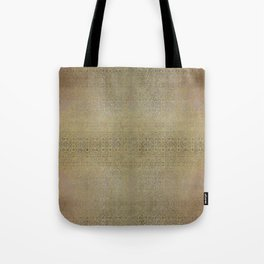Gold and Silver Leaf Bridget Riley Inspired Pattern Tote Bag