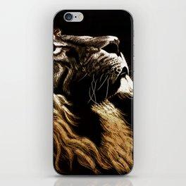 Lion Profile iPhone Skin