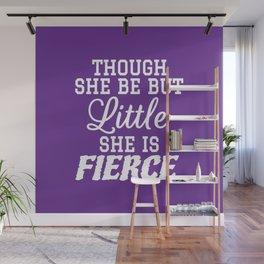 Little & Fierce (Purple) Wall Mural