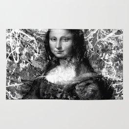 MONA LISA (BLACK & WHITE VERSION) Rug