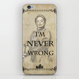 Dowager countess quotes iPhone Skin