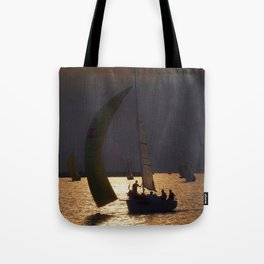 The day before the Barcolana race Tote Bag