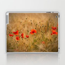 Golden cornfield with poppies Laptop & iPad Skin