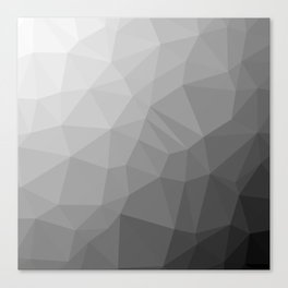 LOWPOLY BLACK AND WHITE Canvas Print