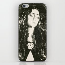 "Edvard Munch ""The Brooch. Eva Mudocci"", 1903 iPhone Skin"