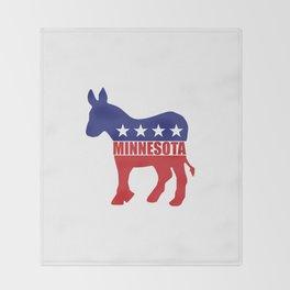 Minnesota Democrat Donkey Throw Blanket