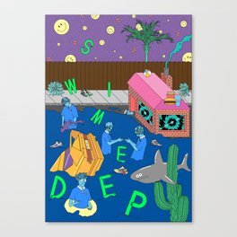 Swim Deep by Infinite Bound Canvas Print