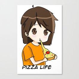 Pasta's Pizza Life Canvas Print