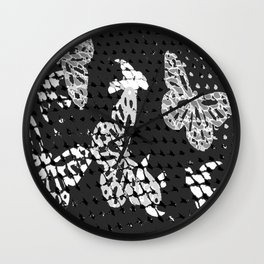 CAGED BIRDS AND BUTTERFLIES Wall Clock