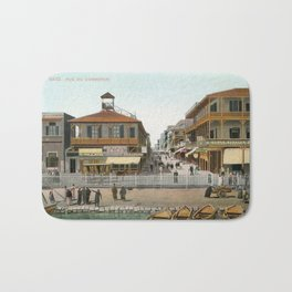 Vintage Egypt, port Said Commerce Street Bath Mat