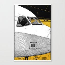 asc 698 - Le tarmac la nuit (Your flight was delayed due to technical problems) Canvas Print